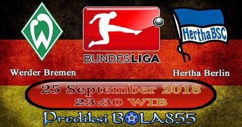 Prediksi Bola855 Werder Bremen vs Hertha Berlin 25 September 2018