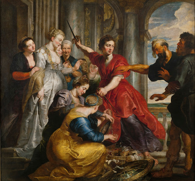 Aquiles descubierto por Ulises y Diomedes, Rubens