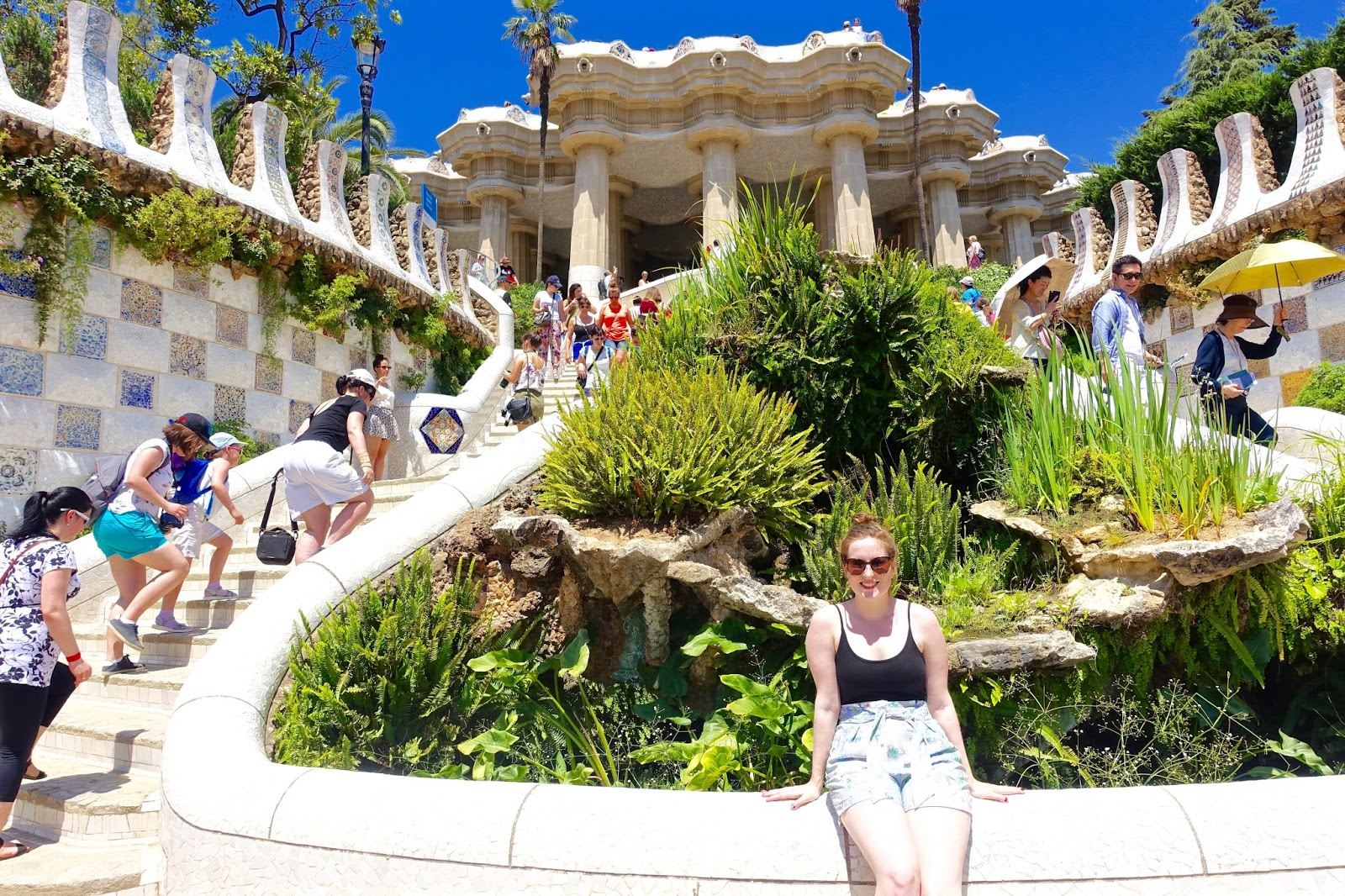 scenic photos at park guell