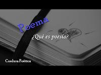 ¿Qué es poesía?