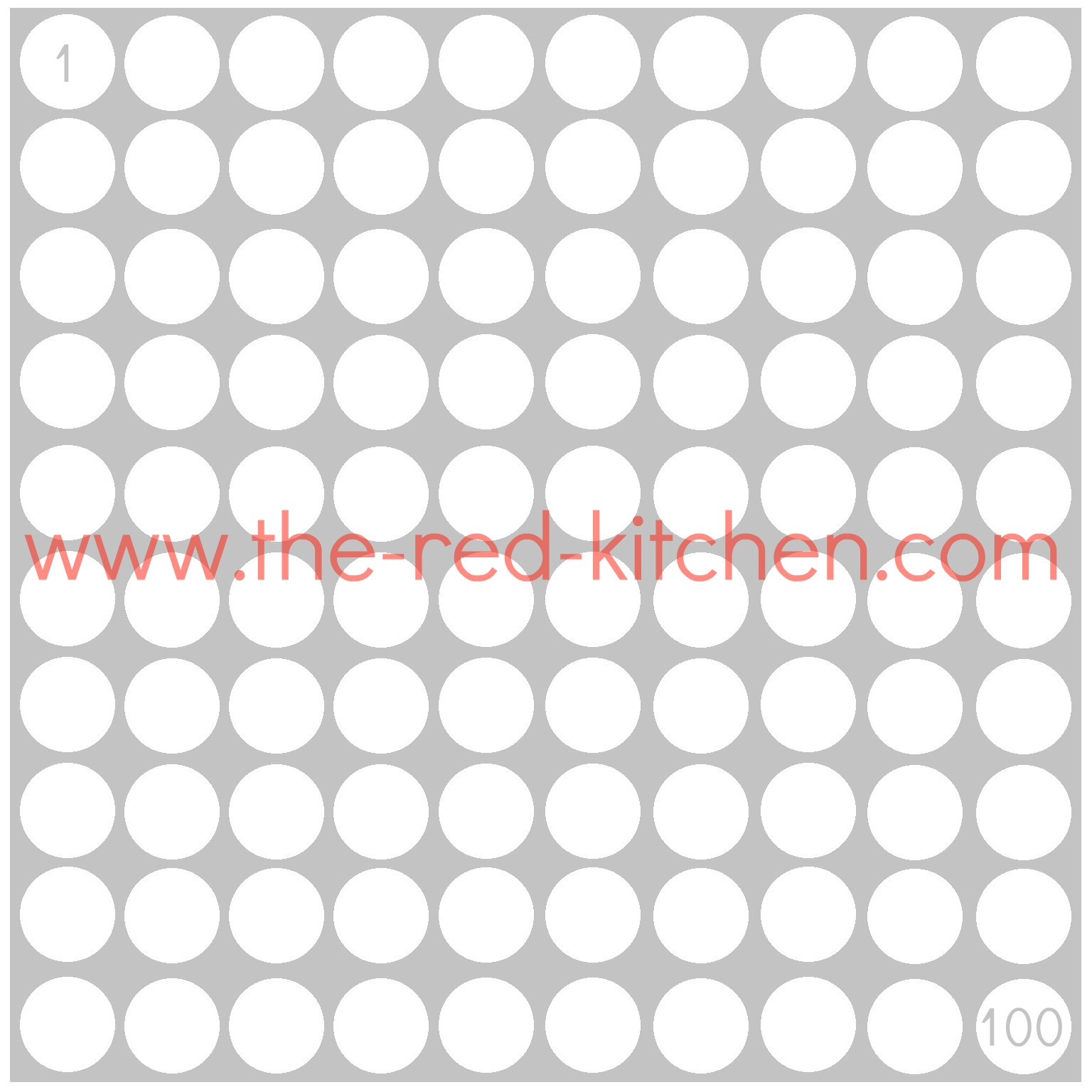 The Red Kitchen 1 100 Charts Free Printables