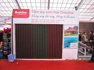 Mẫu tấm Onduline tại Hà Nội
