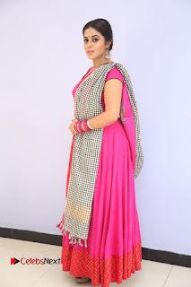 Actress Poorna Pictures in Red Salwar Kameez at Jayammu Nischayammu Raa Teaser Launch  0203