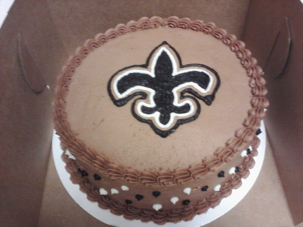 Football Birthday Cake NEW ORLEANS SAINTS CAKE