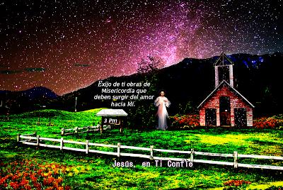 iglesia cercada con jesus misericordioso