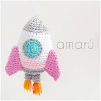 http://amigurumislandia.blogspot.com.ar/2019/03/amigurumi-cohete-sonajero-amaru.html