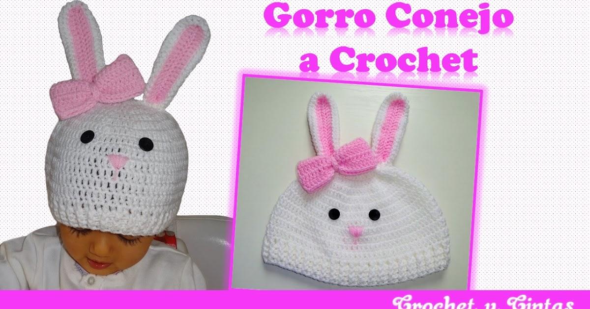 Gorro conejo tejido a crochet ~ Crochet y Cintas 049b169086e