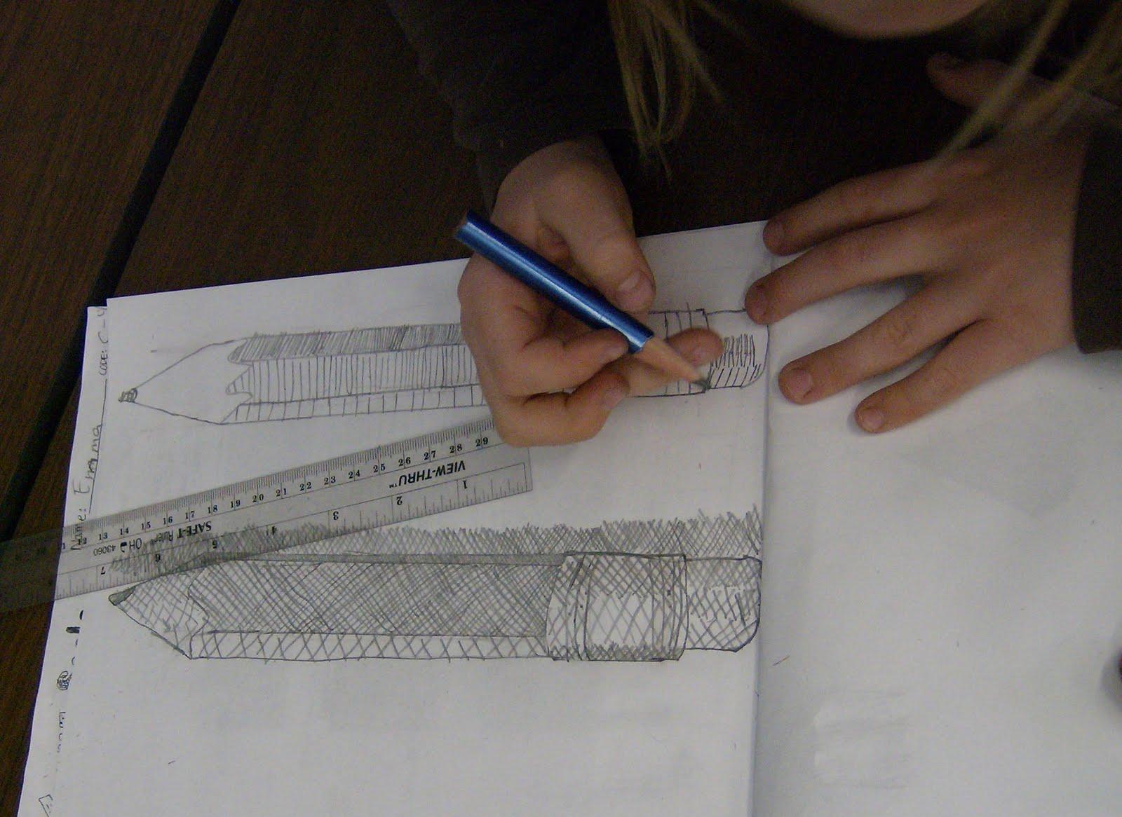 Zilker Elementary Art Class Fourth Grade Value Shading