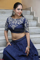 Ruchi Pandey in Blue Embrodiery Choli ghagra at Idem Deyyam music launch ~ Celebrities Exclusive Galleries 051.JPG
