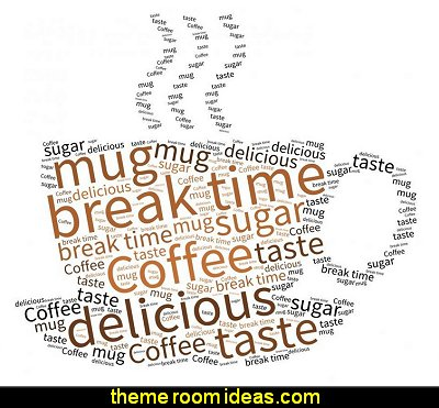 Break Time - Tag Cloud Peel and Stick Fabric Wall Sticker