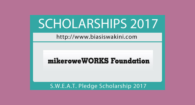SWEAT Peldge Scholarship 2017