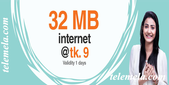 banglalink 32mb internet 9tk offer