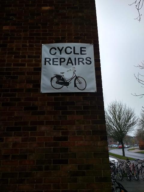 Sign, Bike Shop, Cherry Hinton, Cambridge, John Hart, Cowhorn Handlebars