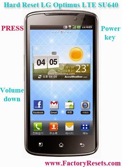 Hard Reset LG Optimus LTE SU640