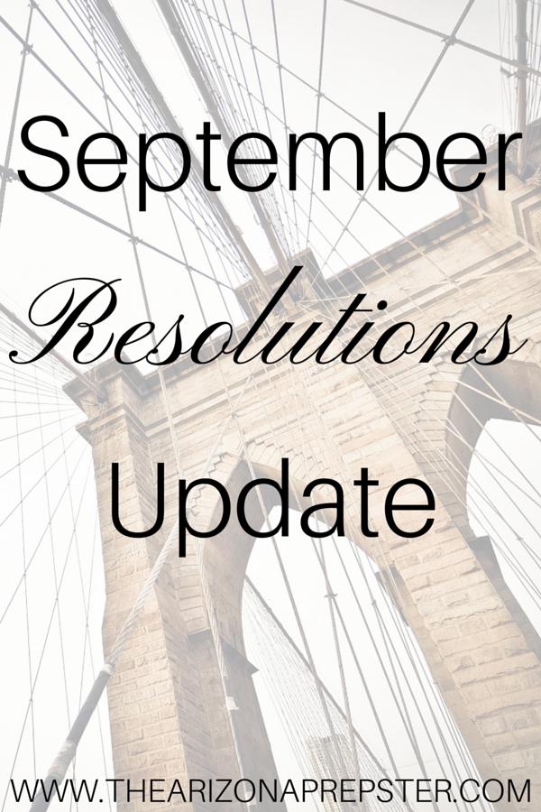 September Resolutions Update