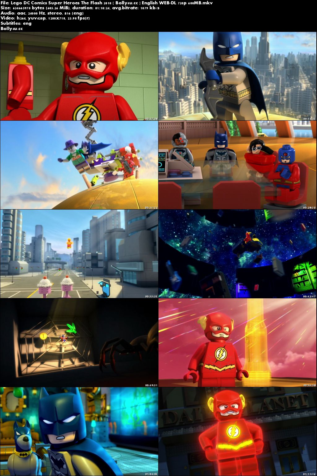 Lego DC Comics Super Heroes The Flash 2018 WEB-DL 600MB English 720p Download