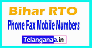 Bihar RTO Codes Name Address Phone Mobile Numbers and Pin Code