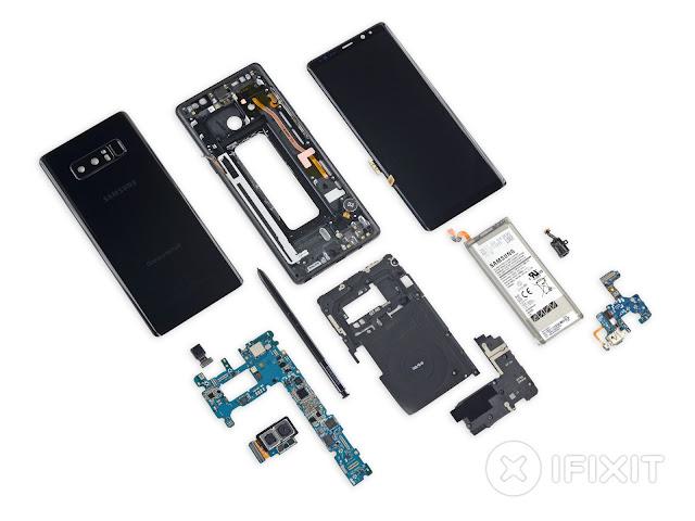 Seperti inilah jeroan hardware Samsung Galaxy Note 8