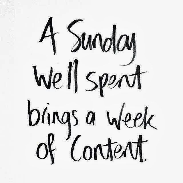 Sunday Is Here