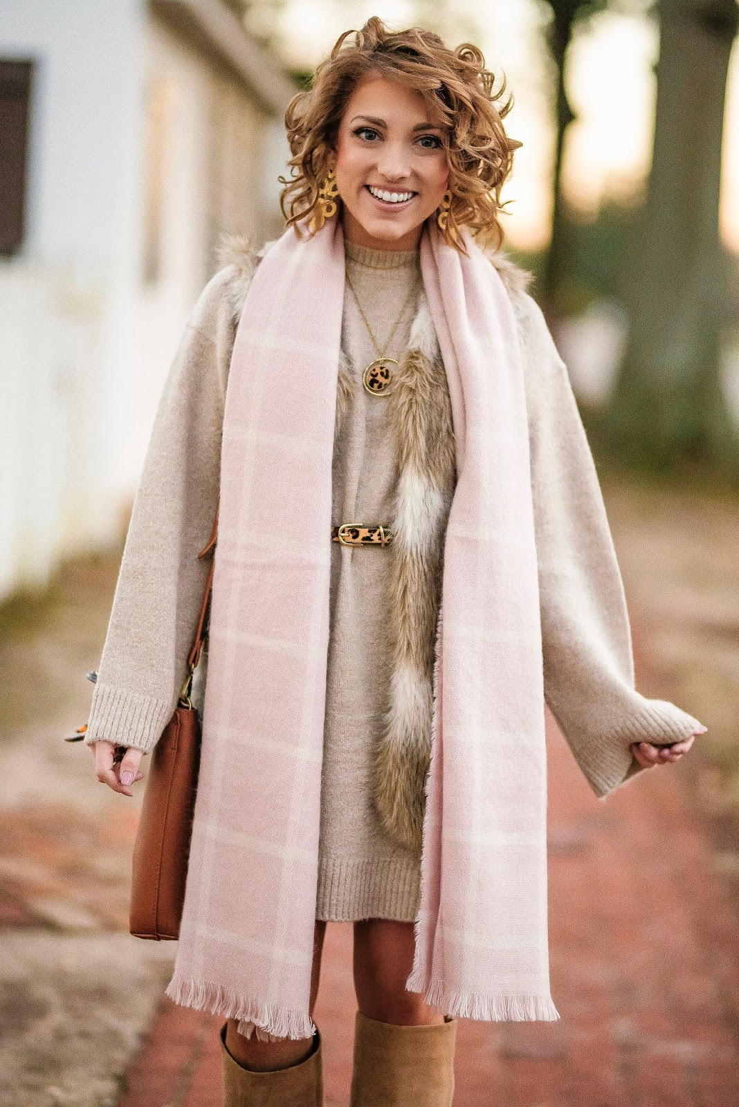 Baby Pink and Faux Fur - Something Delightful Blog