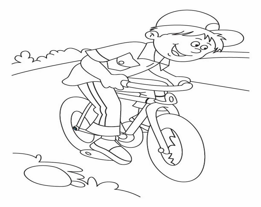 Mewarnai Gambar Sepeda Anak Mewarnai T