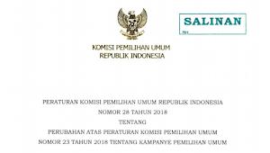 Download PKPU RI Nomor 28 Tahun 2018