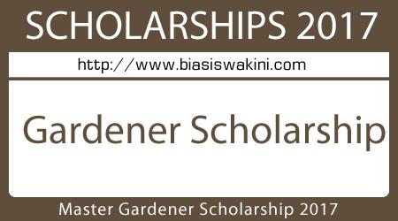 Master Gardener Scholarship 2017