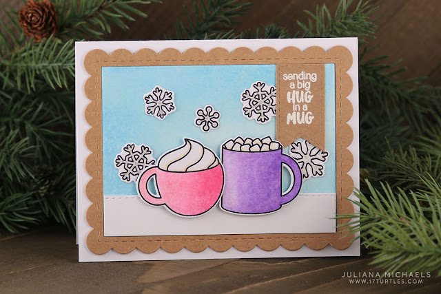 Sunny Studio Stamps: Mug Hugs Christmas Card by Juliana Michaels.