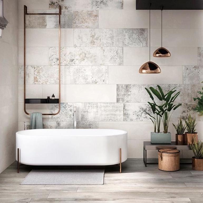 bañera ovalada blanca