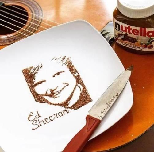 Lukisan Ed Sheeran Dari Selai Kacang