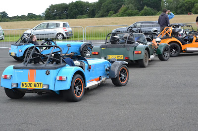 The cars ready for action first thing