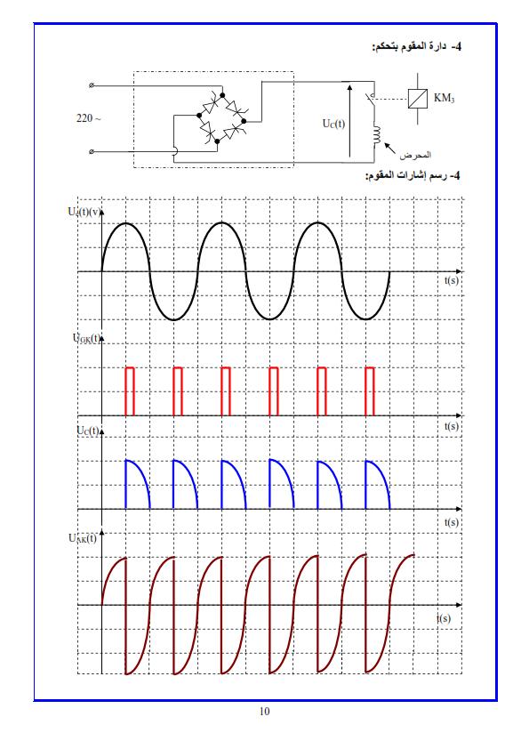 حل تمارين الهندسة الكهربائية الثالثة ثانوي