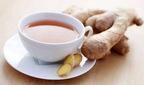 الشاي الزنجبيل .