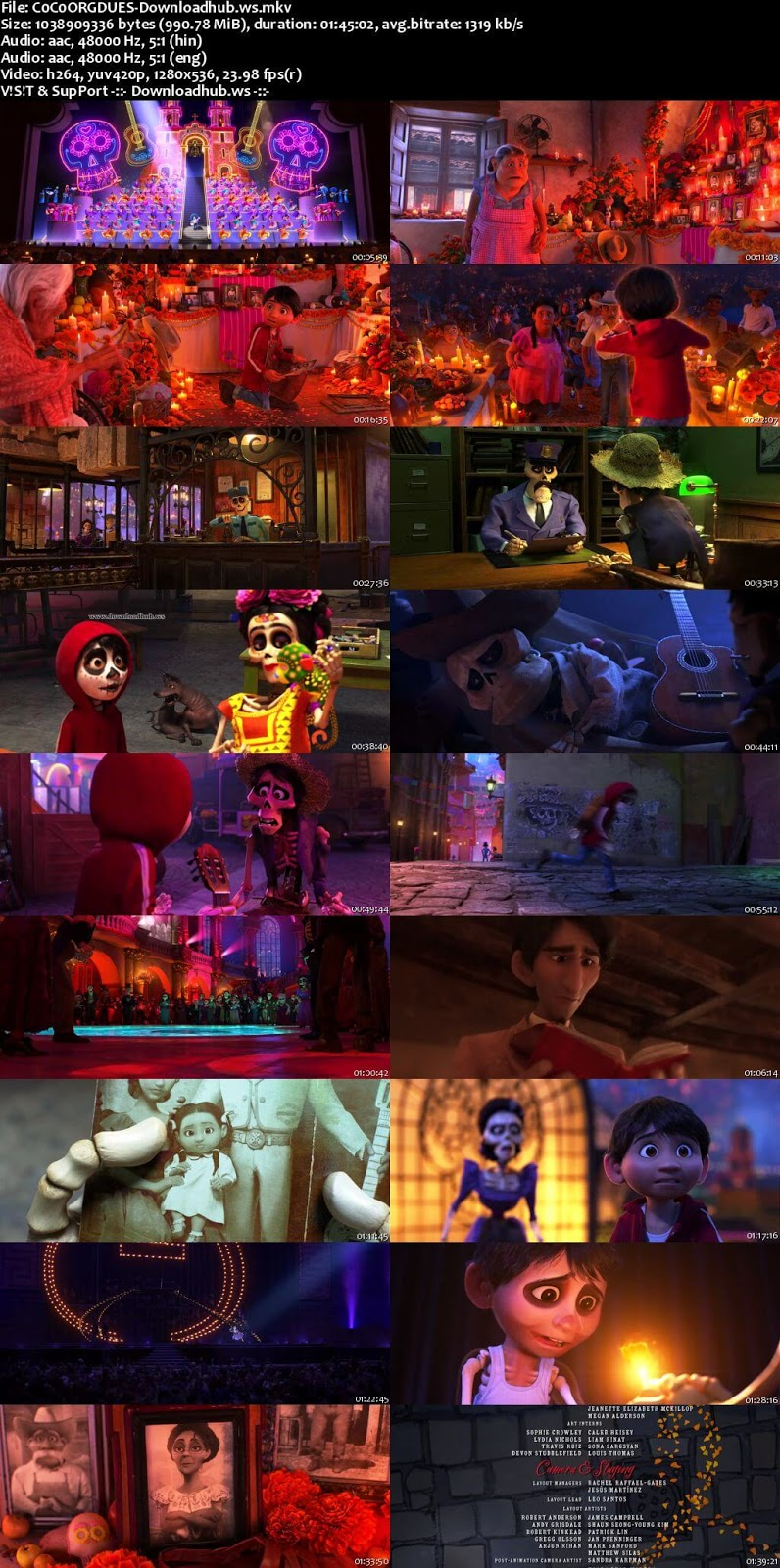 Coco 2017 Hindi Dual Audio 720p BluRay Free Download