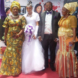 Relative Claimes to be  cousin-in-law to ex BBNaija housemate, Gifty, exposed her  wedding photos....She's a liar don't believe her- photos