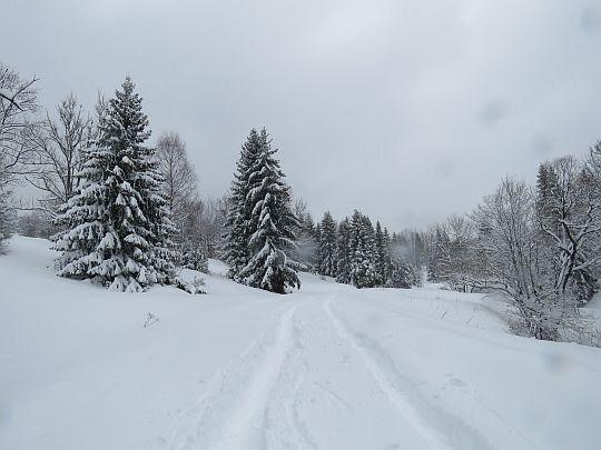 Droga z przełęczy.
