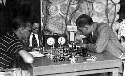 Partida de ajedrez Lloréns-Ribera en 1934