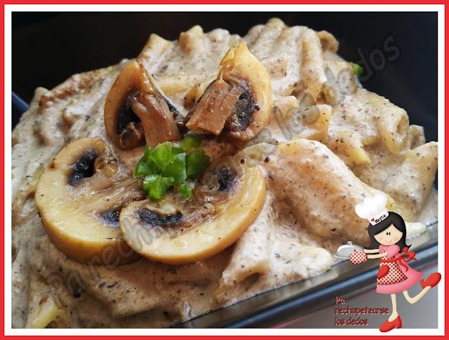 *macarrones Con Salsa De Champiñones (tradicional - Olla Gm-e - Thermomix)
