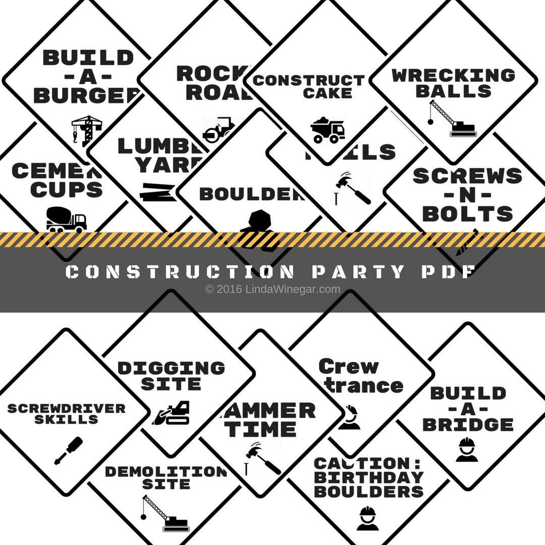 Party Printables Construction Theme Linda Winegar