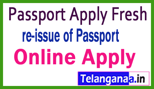 How to Passport Apply for Fresh Passport / re-issue of Passport