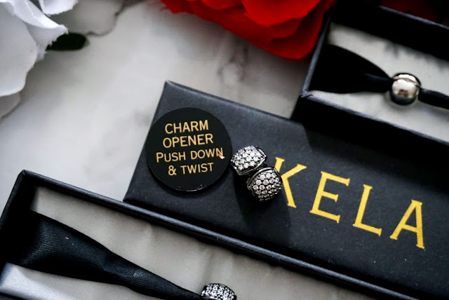 The Celeste Diamante Gunmetal Charm Collection by Kela Hair Jewellery