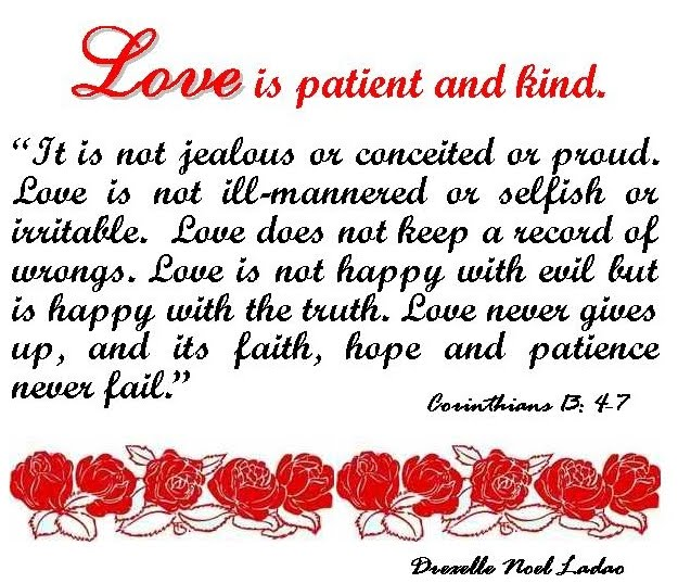 Love Is Patient Love Is Kind Quote: Quotes About Love: Love Is Patient Love Is Kind Quote