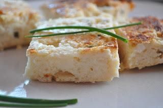 Gâteau au chou-fleur, fromage blanc et parmesan