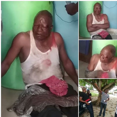 Youths beats up a Man who duped a woman of N1.3M in Delta State
