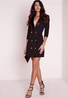 Imágenes Tendencias Moda Mujer Instagram Otoño Invierno vestido blazer chaqueta negro