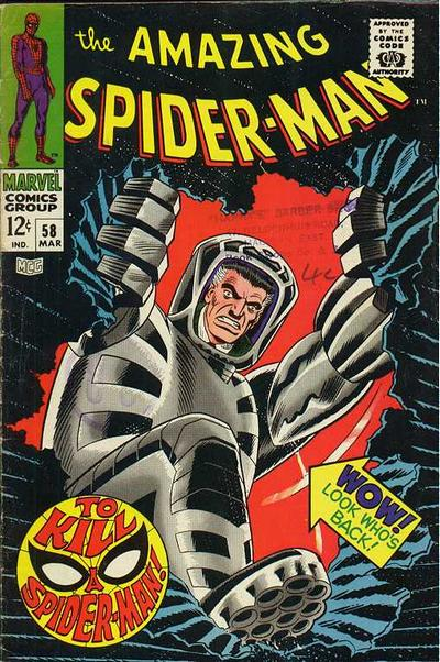 Amazing Spider-Man #58, J Jonah Jameson and the Spider-Slayer