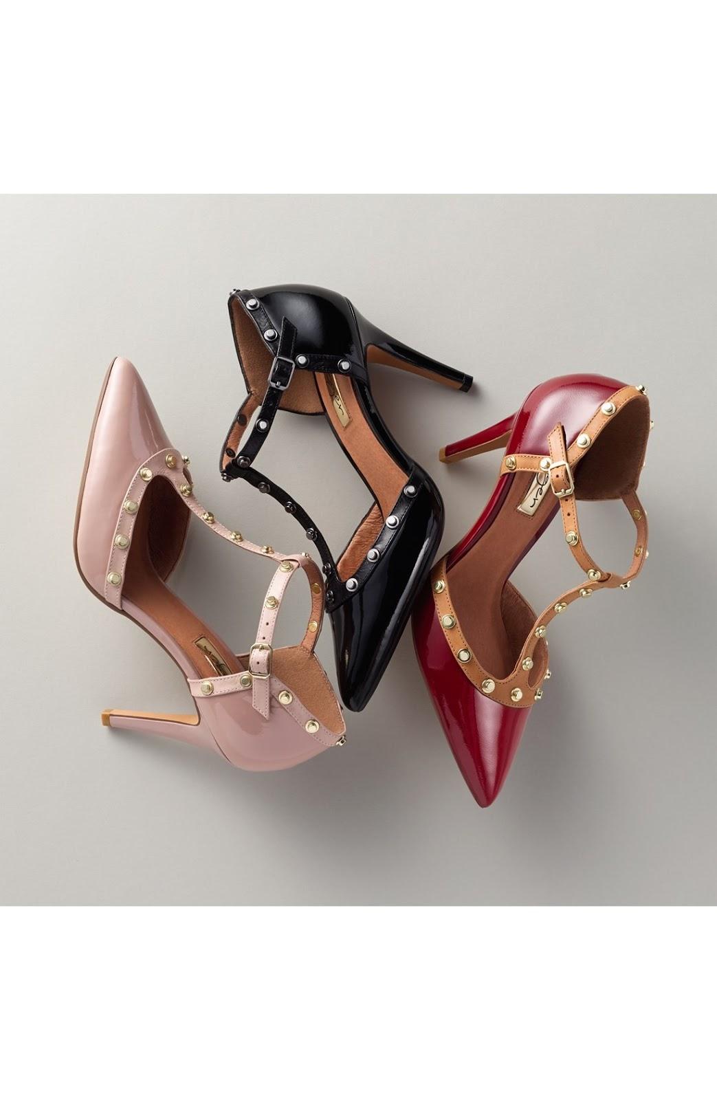 2ff5b93884a Shoes Information  Pumps-Halogen  Martine  Studded T-Strap Pump