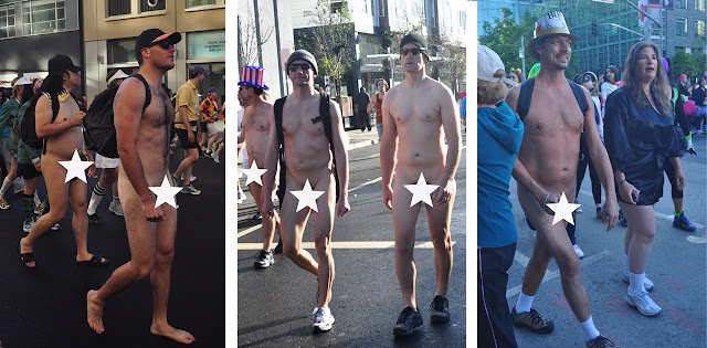 naked nude men males Bay to Breakers San Francisco erect penis cock