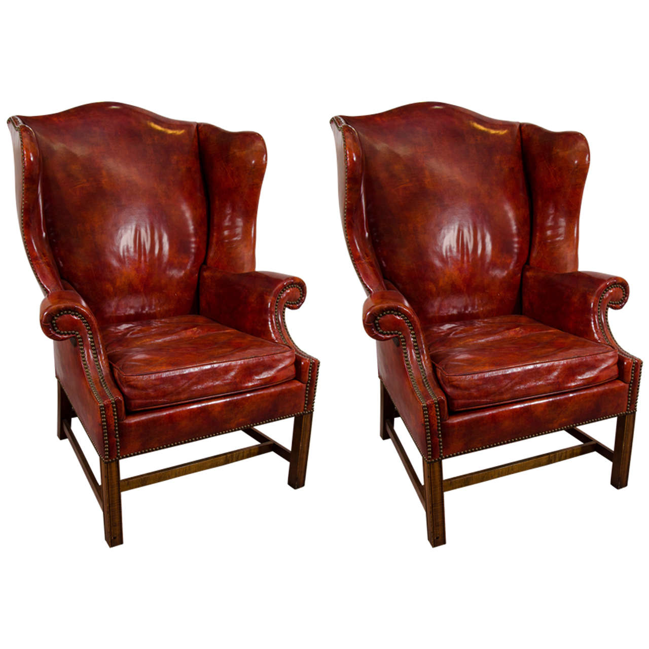Oxblood Leather Wing Chair World Market Outdoor Cushions Darya Girina Interior Design