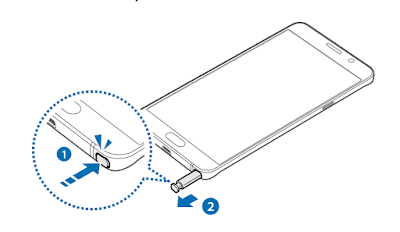 How to Detaching the S Pen on Samsung Galaxy Note 5